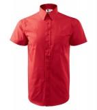 Koszula A 207 SHIRT SHORT SLEEVE - 207_07_A Czerwony