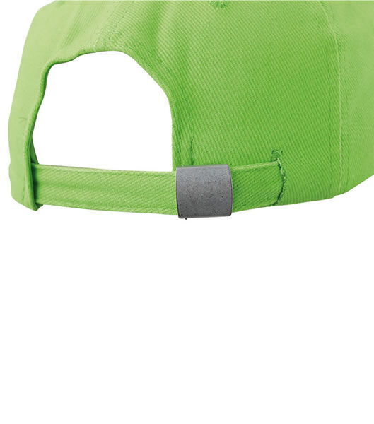 Czapka MB016 6 Panel cap Laminated - 016_detale_MB - Kolor: Lime green