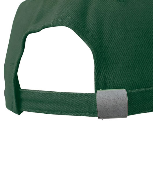Czapka MB018 6 Panel Cap close-fitting - 018_detale_MB - Kolor: Dark green