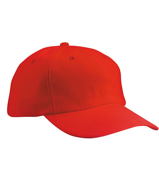 Czapka MB018 6 Panel Cap close-fitting - 018_red_MB - Kolor: Red