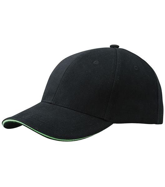 Czapka MB024 6 Panel Sandwich Cap - 024_black_limegreen_MB - Kolor: Black / Lime green