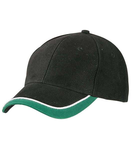 Czapka MB049 Half - Pipe Sandwich Cap - 049_black_white_darkgreen_MB - Kolor: Black / White / Dark green