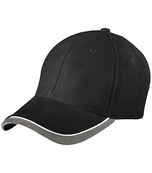 Czapka MB049 Half - Pipe Sandwich Cap - 049_black_white_lightgrey_MB - Kolor: Black / White / Light grey