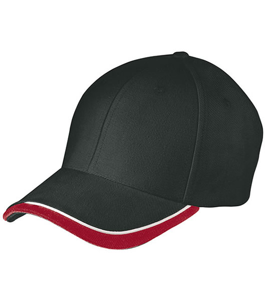 Czapka MB049 Half - Pipe Sandwich Cap - 049_black_white_red_MB - Kolor: Black / White / Red