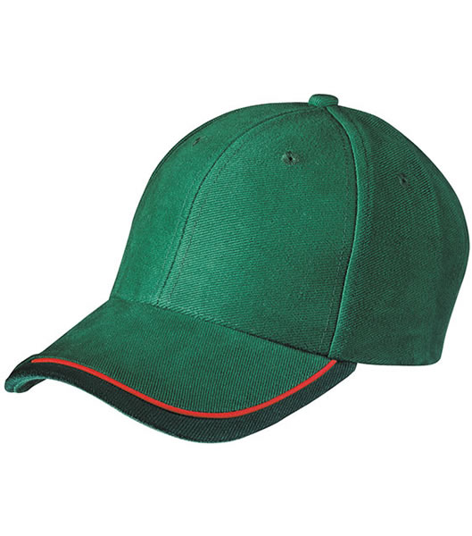 Czapka MB049 Half - Pipe Sandwich Cap - 049_darkgreen_red_darkgreen_MB - Kolor: Darg green / Red / Dark green