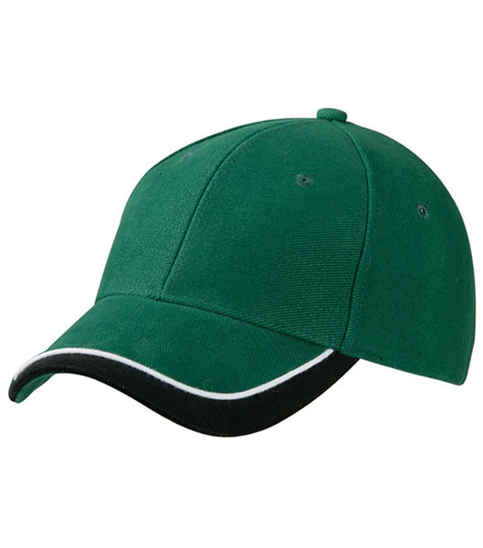 Czapka MB049 Half - Pipe Sandwich Cap - 049_darkgreen_white_black_MB - Kolor: Dark green / White / Black