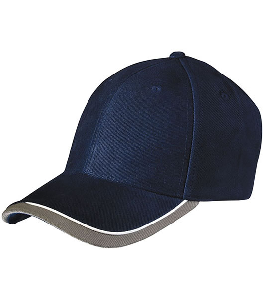 Czapka MB049 Half - Pipe Sandwich Cap - 049_navy_white_lightgrey_MB - Kolor: Navy / White / Light grey
