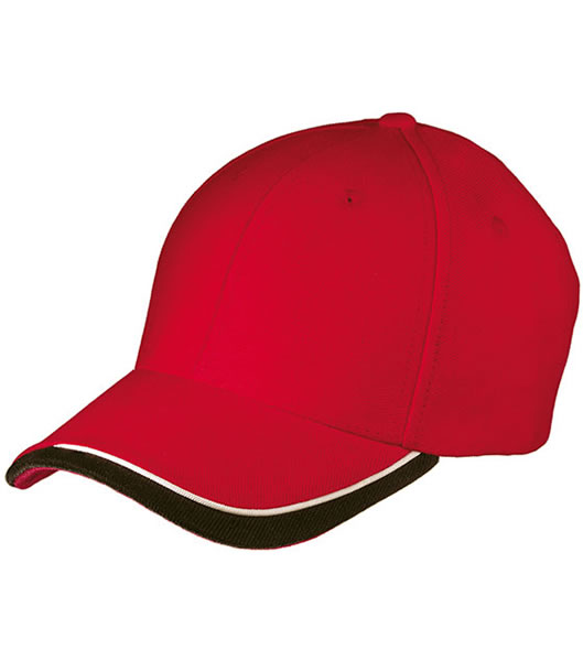 Czapka MB049 Half - Pipe Sandwich Cap - 049_red_white_black_MB - Kolor: Red / White / Black