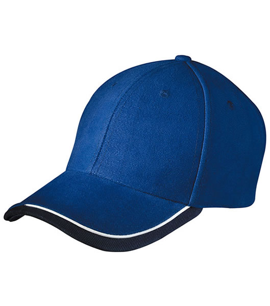 Czapka MB049 Half - Pipe Sandwich Cap - 049_royal_white_navy_MB - Kolor: Royal / White / Navy