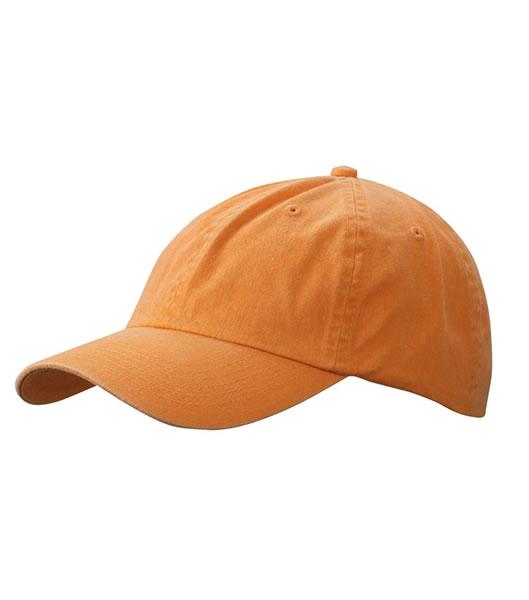 Czapka MB097 Enzyme Washed Cap - 097_orange_MB - Kolor: Orange