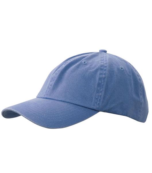 Czapka MB097 Enzyme Washed Cap - 097_steel_blue_MB - Kolor: Steel blue