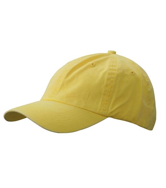 Czapka MB097 Enzyme Washed Cap - 097_yellow_MB - Kolor: Yellow