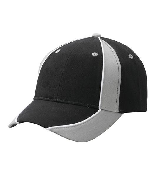 Czapka MB135 Club Cap - 135_black_lightgrey_white_MB - Kolor: Black / Light grey / White