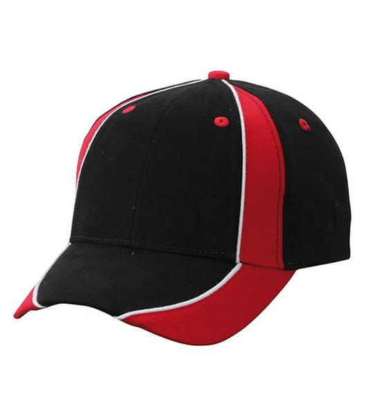 Czapka MB135 Club Cap - 135_black_red_white_MB - Kolor: Black / Red / White