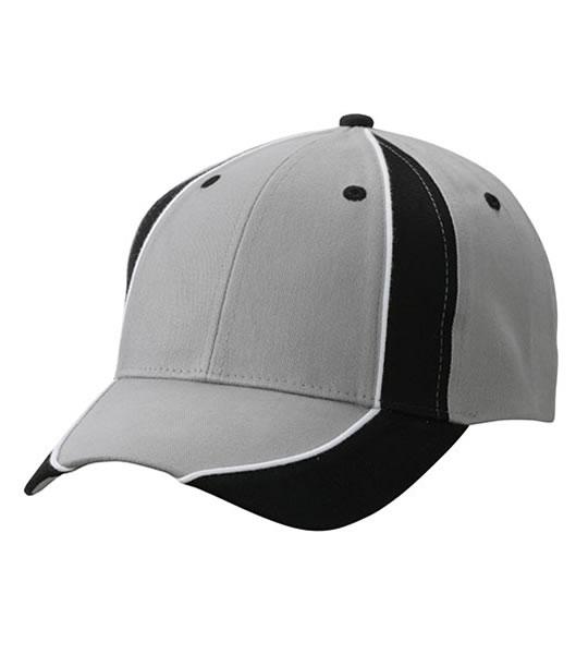 Czapka MB135 Club Cap - 135_lightgrey_black_white_MB - Kolor: Light grey / Black / White
