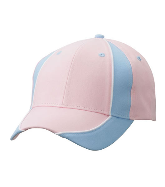 Czapka MB135 Club Cap - 135_lightpink_lightblue_white_MB - Kolor: Light pink / Light blue / White