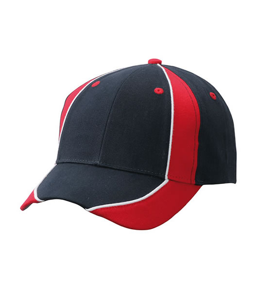 Czapka MB135 Club Cap - 135_navy_red_white_MB - Kolor: Navy / Red / White