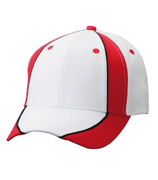Czapka MB135 Club Cap - 135_white_red_black_MB - Kolor: White / Red / Black