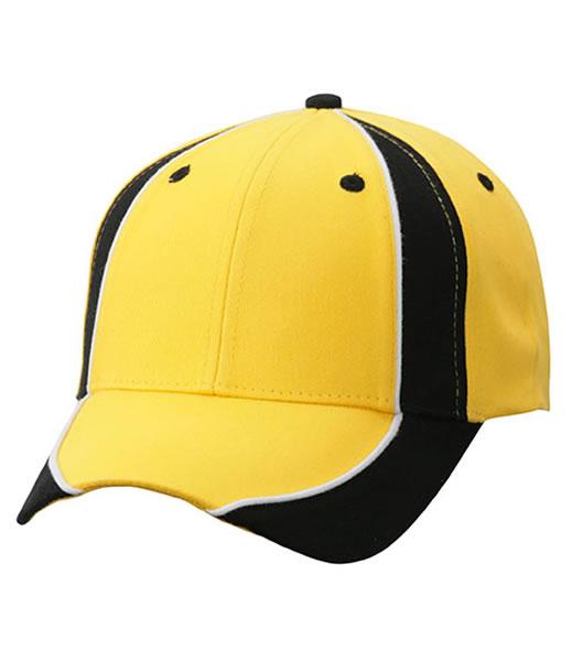Czapka MB135 Club Cap - 135_yellow_black_white_MB - Kolor: Yellow / Black / White