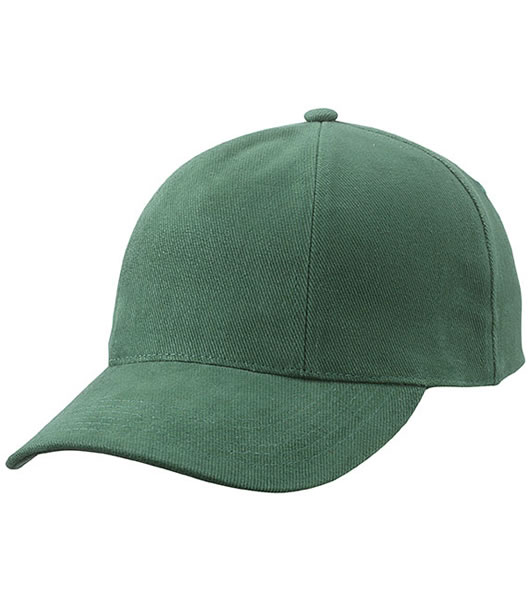Czapka MB609 Turned 6 Panel Cap laminated  - 609_dark_green_MB - Kolor: Dark green