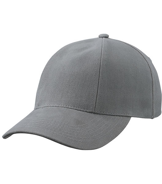 Czapka MB609 Turned 6 Panel Cap laminated  - 609_dark_grey_MB - Kolor: Dark grey