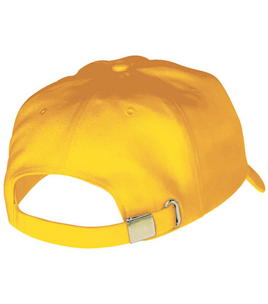 Czapka MB609 Turned 6 Panel Cap laminated  - 609_detale_MB - Kolor: Gold yellow