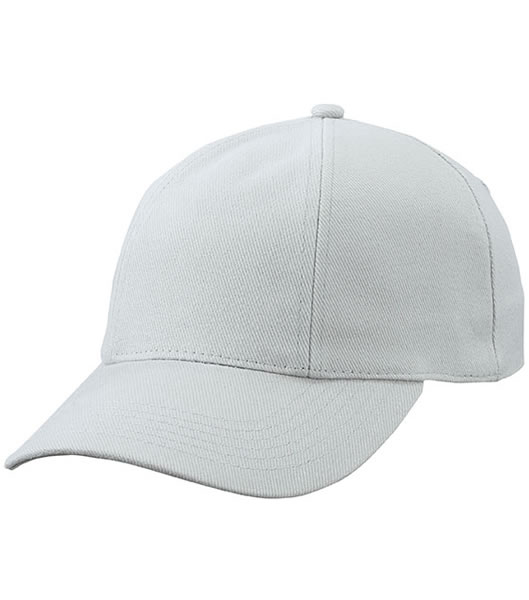 Czapka MB609 Turned 6 Panel Cap laminated  - 609_light_grey_MB - Kolor: Light grey