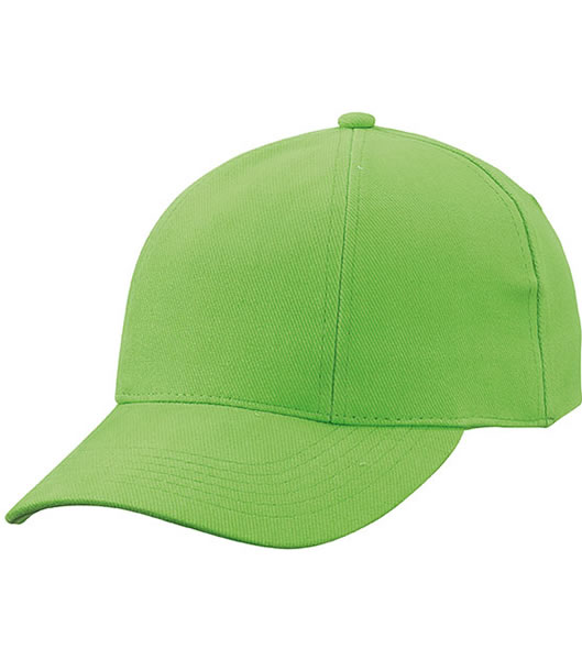 Czapka MB609 Turned 6 Panel Cap laminated  - 609_lime_green_MB - Kolor: Lime green