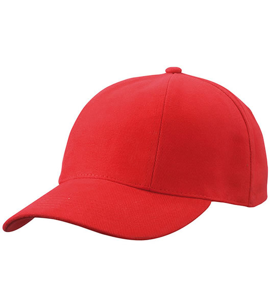 Czapka MB609 Turned 6 Panel Cap laminated  - 609_red_MB - Kolor: Red