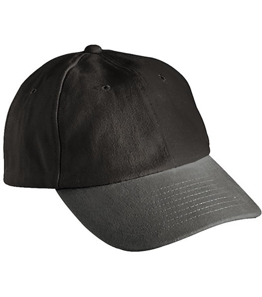 Czapka MB6111 6 PANEL RAVER CAP - 6111_black_charcoal_MB - Kolor: Black / Charcoal