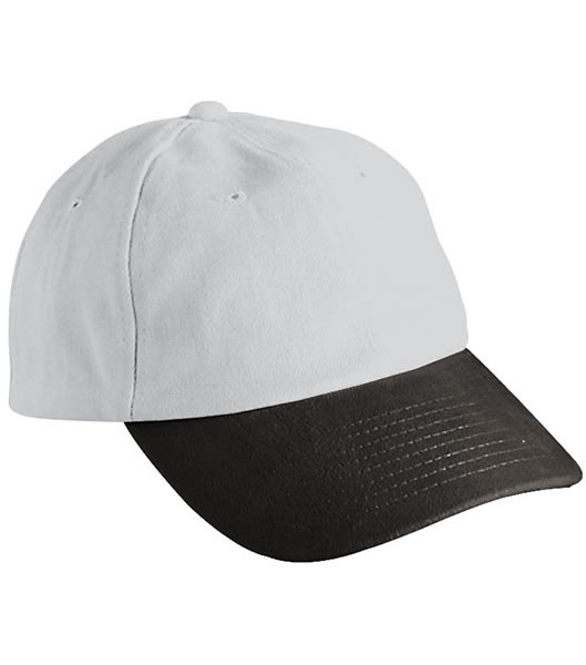 Czapka MB6111 6 PANEL RAVER CAP - 6111_lightgrey_black_MB - Kolor: Light grey / Black