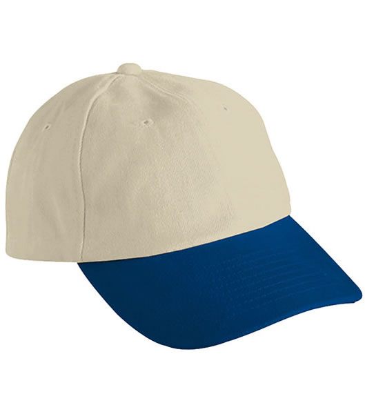 Czapka MB6111 6 PANEL RAVER CAP - 6111_lightkhaki_navy_MB - Kolor: Light khaki / Navy