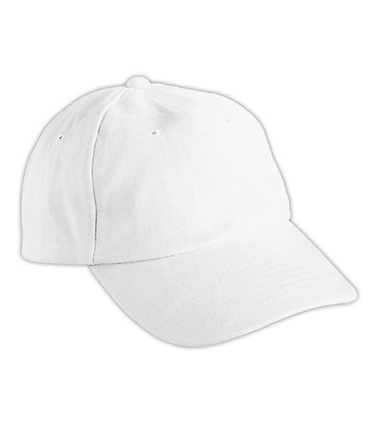 Czapka MB6111 6 PANEL RAVER CAP - 6111_white_MB - Kolor: White
