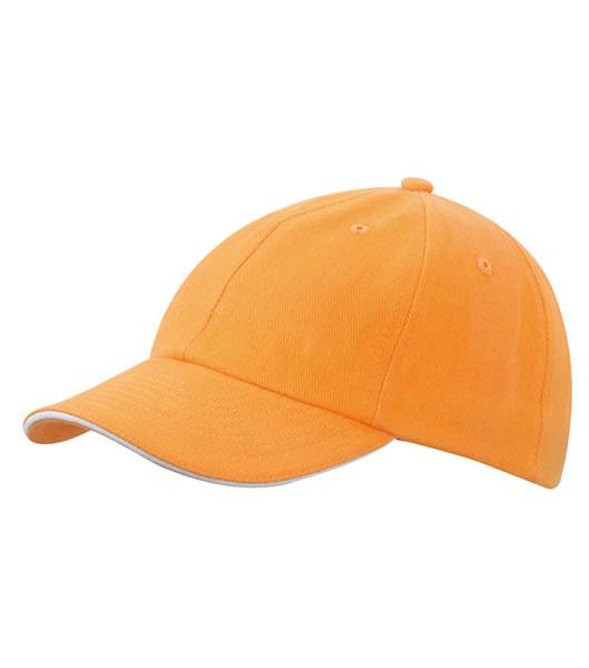 Czapka MB6112 6 PANEL SANDWICH CAP - 6112_orange_white_MB - Kolor: Orange / White