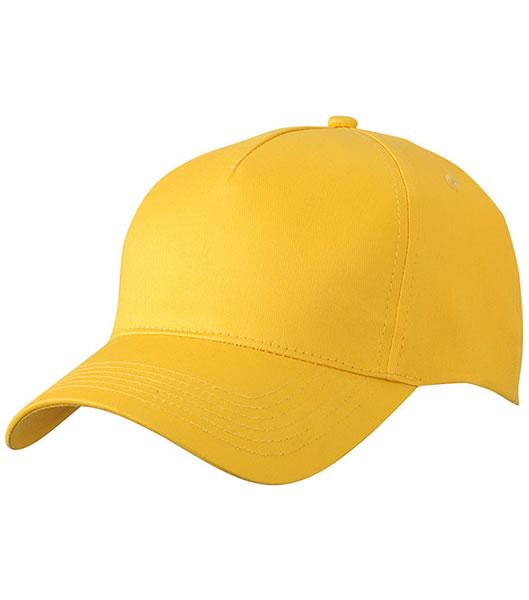 Czapka MB6117 5 Panel Cap  - 6117_yellow_MB - Kolor: Yellow