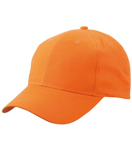 Czapka MB6118 Brushed 6 Panel Cap - 6118_orange_MB - Kolor: Orange