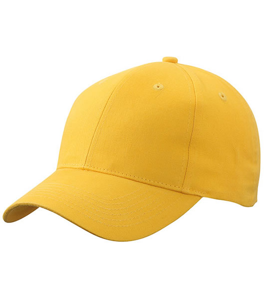 Czapka MB6118 Brushed 6 Panel Cap - 6118_yellow_MB - Kolor: Yellow