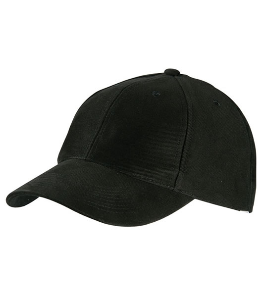 Czapka MB6128 6 Panel Raver Cap Laminated - 6128_black_MB - Kolor: Black