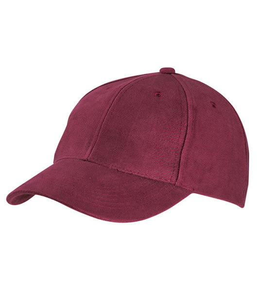 Czapka MB6128 6 Panel Raver Cap Laminated - 6128_burgundy_MB - Kolor: Burgundy