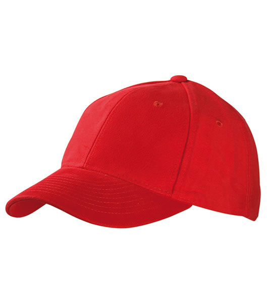 Czapka MB6128 6 Panel Raver Cap Laminated - 6128_signal_red_MB - Kolor: Signal red