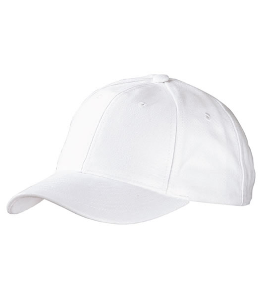 Czapka MB6128 6 Panel Raver Cap Laminated - 6128_white_MB - Kolor: White