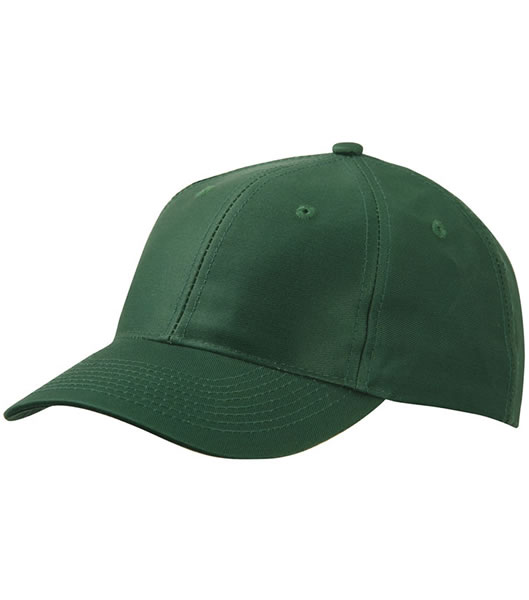 Czapka MB6131 6 Panel Baseball Cap - 6131_dark_green_MB - Kolor: Dark green