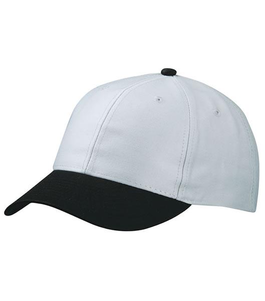 Czapka MB6131 6 Panel Baseball Cap - 6131_lightgrey_black_MB - Kolor: Light grey / Black