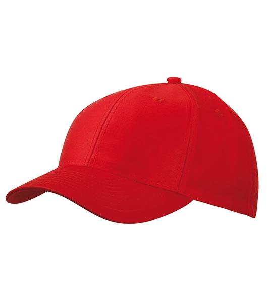 Czapka MB6131 6 Panel Baseball Cap - 6131_signal_red_MB - Kolor: Signal red