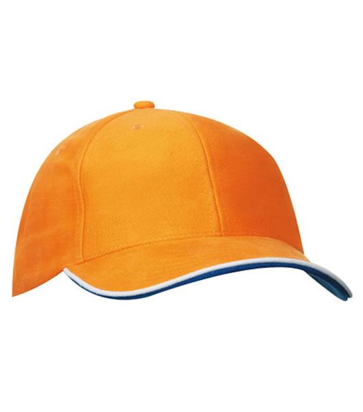 Czapka MB6197 Double Sandwich Cap - 6197_orange_white_royal_MB - Kolor: Orange / White / Royal