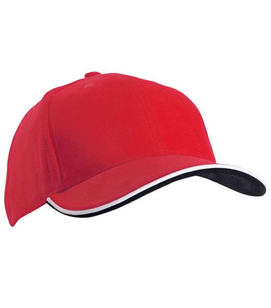 Czapka MB6197 Double Sandwich Cap - 6197_red_white_black_MB - Kolor: Red / White / Black