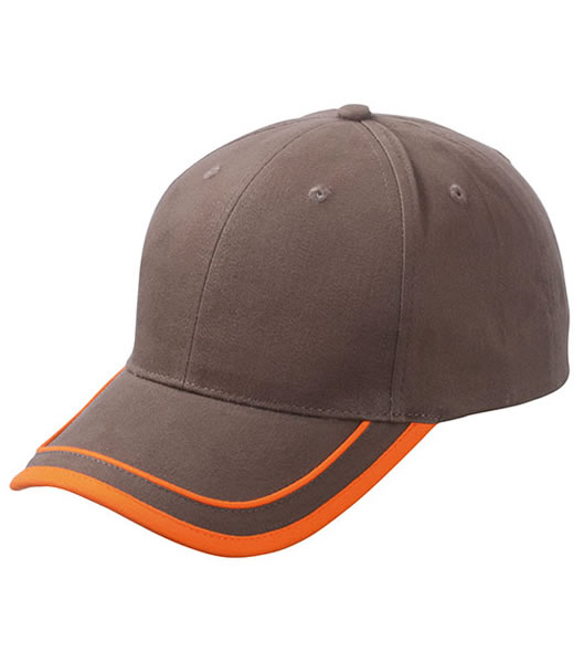 Czapka MB6501 Piping Cap - 6501_brown_orange_MB - Kolor: Brown / Orange