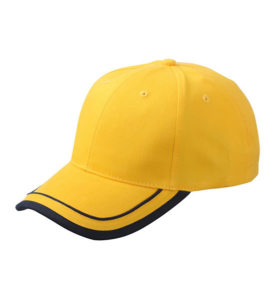Czapka MB6501 Piping Cap - 6501_goldyellow_navy_MB - Kolor: Gold yellow / Navy