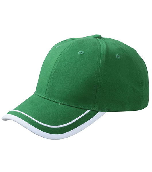 Czapka MB6501 Piping Cap - 6501_green_white_MB - Kolor: Green / White