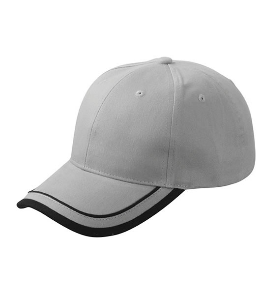 Czapka MB6501 Piping Cap - 6501_grey_black_MB - Kolor: Grey / Black